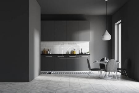 Ipastock interiore della cucina grigio scuro - Cucina grigio scuro ...