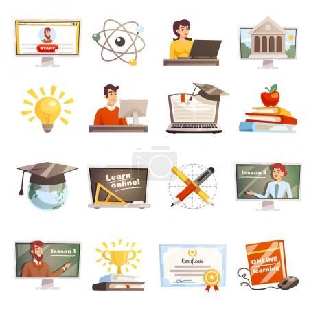 Set di icone per l'apprendimento on...