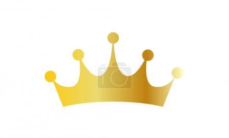 corona in oro metallico