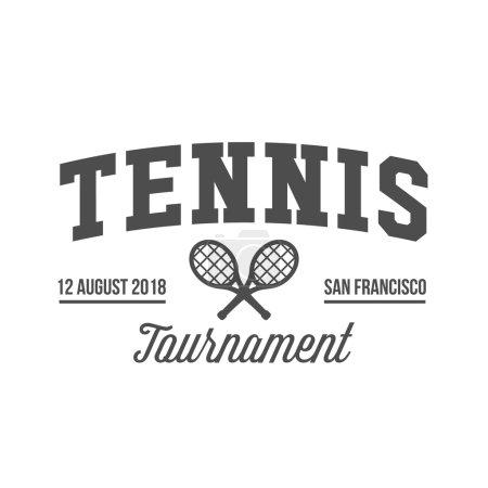 Ipastock tennis sport logo etichetta emblema elementi for Elementi di design
