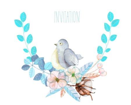 3b98268b0c Ipastock - Illustrazione, corona con l'uccello sveglio dell ...