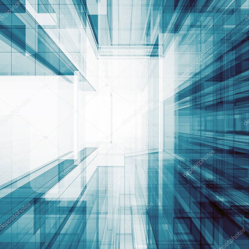 Ipastock architettura astratto 3d rendering for Architettura 3d