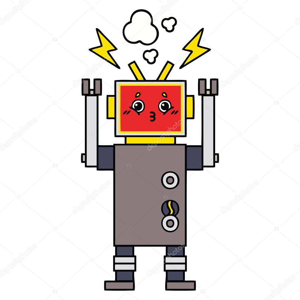 Ipastock malfunzionamento del robot sveglio fumetto