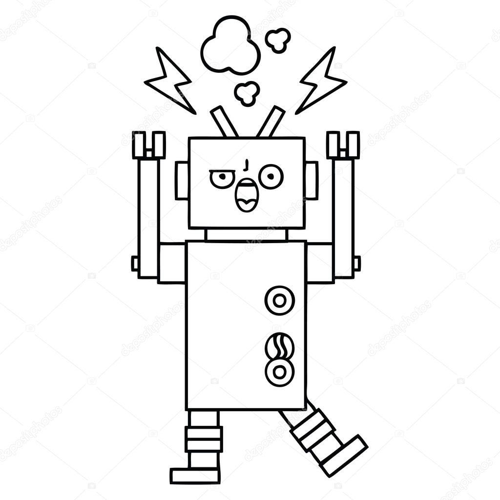 Ipastock disegno cartone animato robot rotto