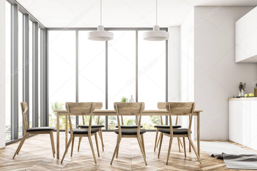 Ipastock - Sala da pranzo e cucina interna con pareti ...