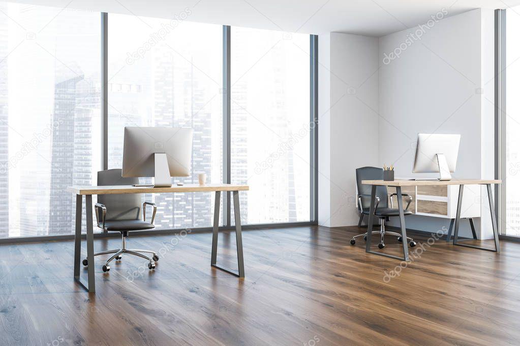 Ipastock interno di ufficio manager moderno con un for Pavimento in legno interno