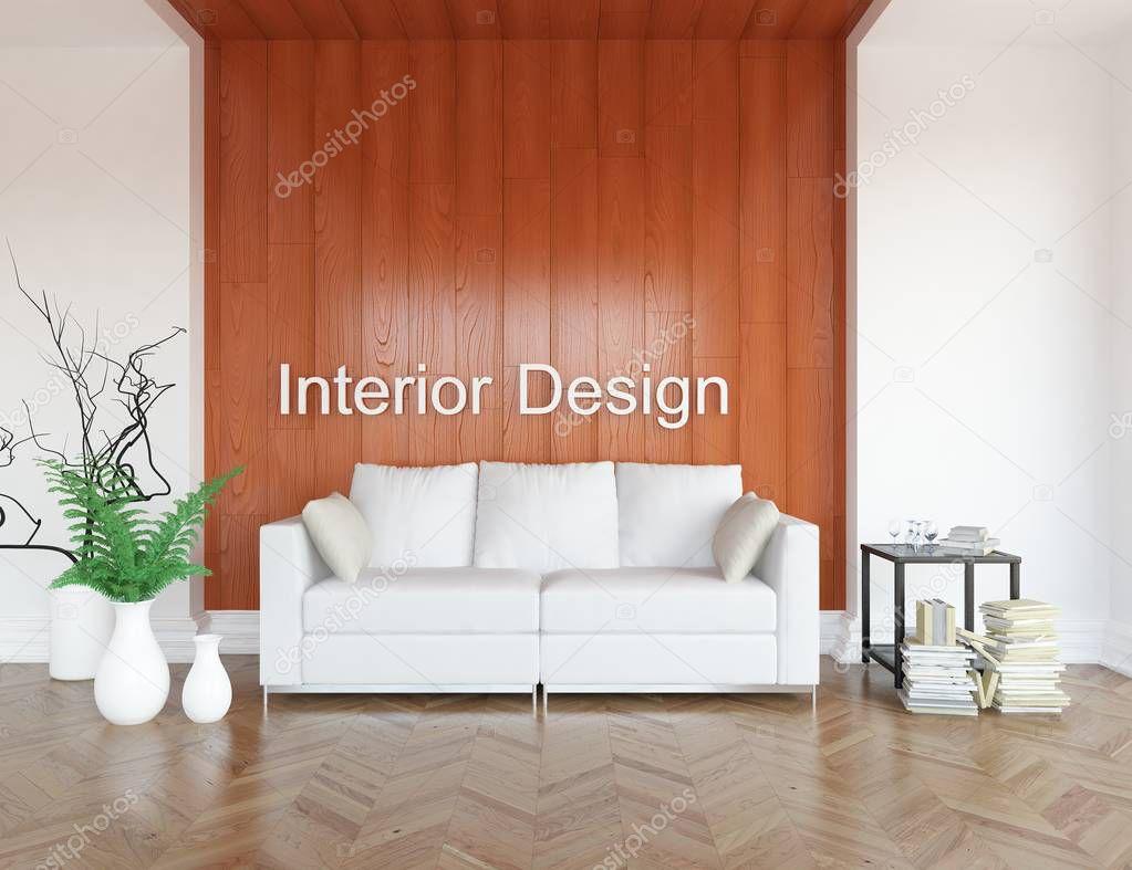 Ipastock idea di un interno scandinavo salotto con for Pavimento in legno interno