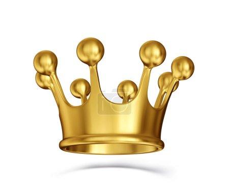 Corona dorata isolata su un bianco....