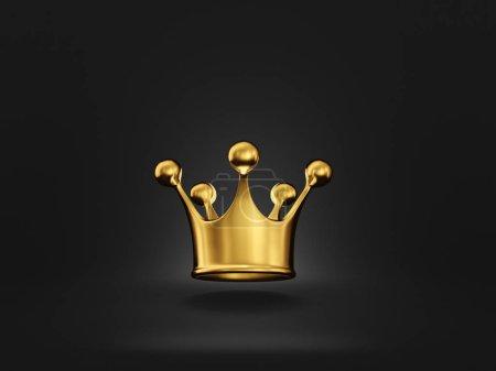 Corona dorata isolata sul nero. ill...