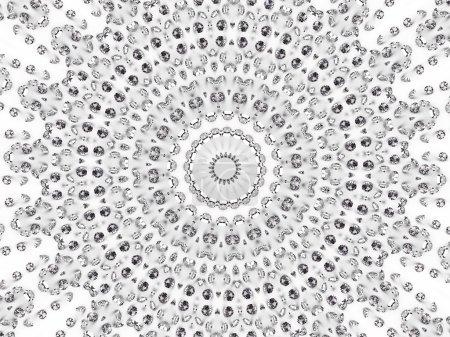 modello mosaico circolare di diaman...