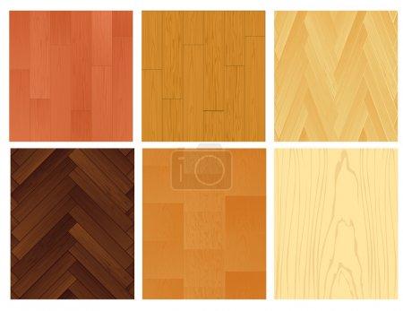 Pagina su sfondo di legno