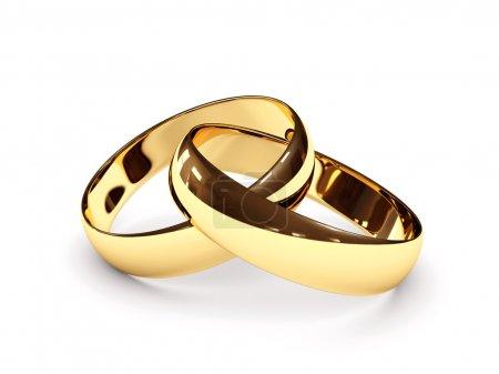 anelli di nozze collegati