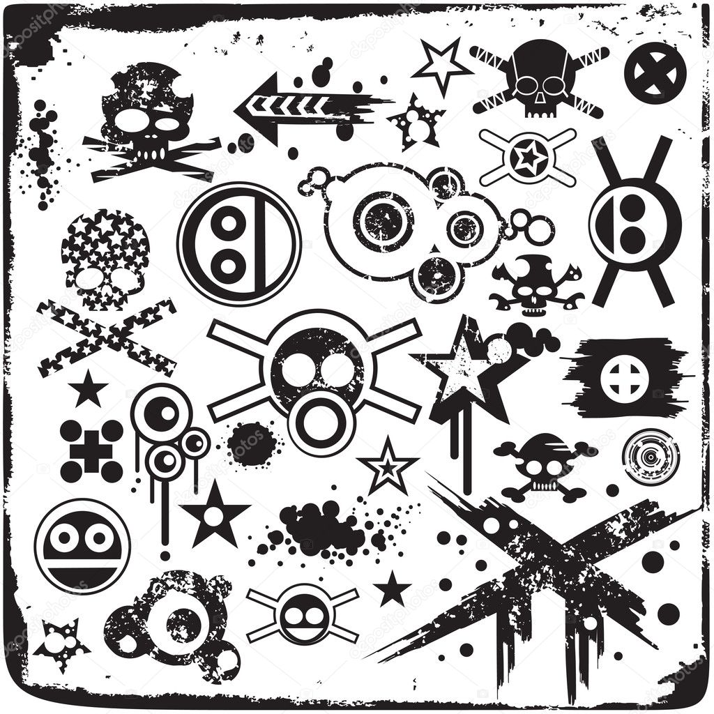 Ipastock grunge teschi ed elementi di design for Elementi di design