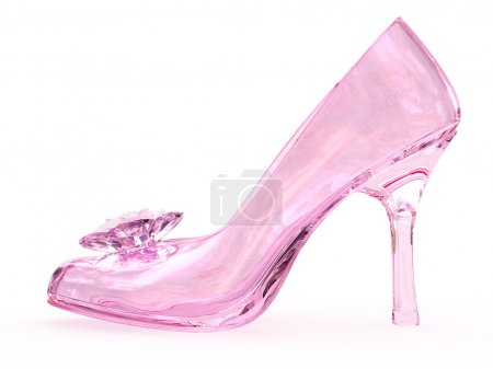 scarpa femminile di vetro cristallo...