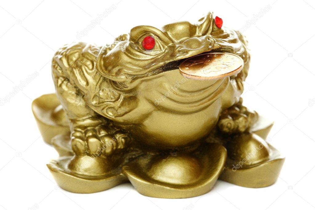 Ipastock feng shui rana seduta sul denaro - Feng shui quali oggetti portano ricchezza ...