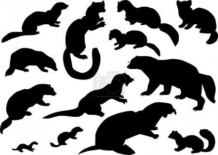 collezione di sagome di animali di ...