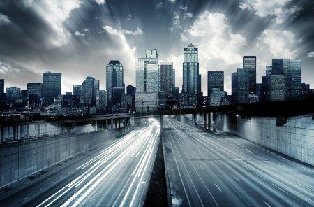 paesaggio urbano futuristico