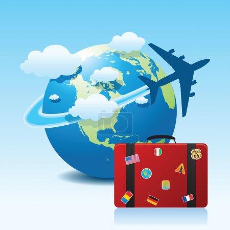 Icona di viaggio aereo