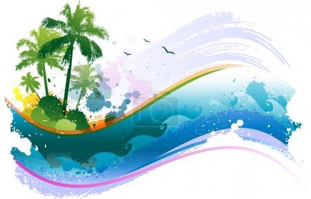 Fondo tropicale astratto