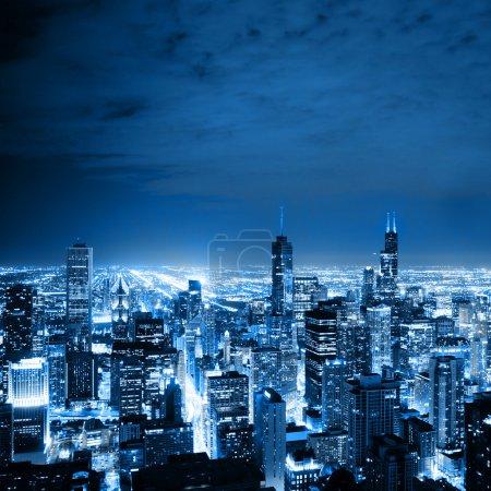 Veduta aerea di chicago