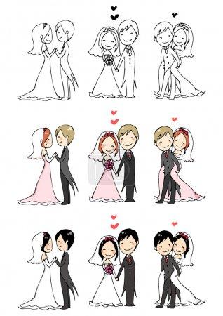 lo sposo e la sposa bella