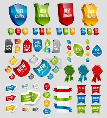 Ipastock elementi di design tags adesivi nastri e altri for Elementi di design