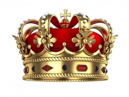 corona reale di oro<br>