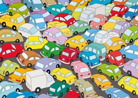 Risultati immagini per autostrade ingorghi disegno